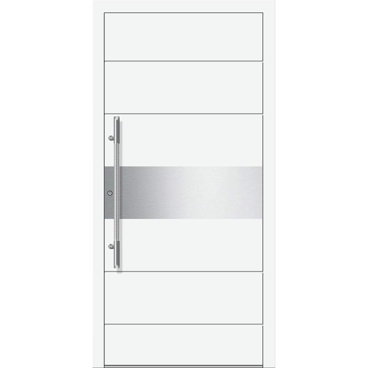Porte d 39 entr e sur mesure en aluminium atlanta excellence for Leroy merlin porte garage sur mesure