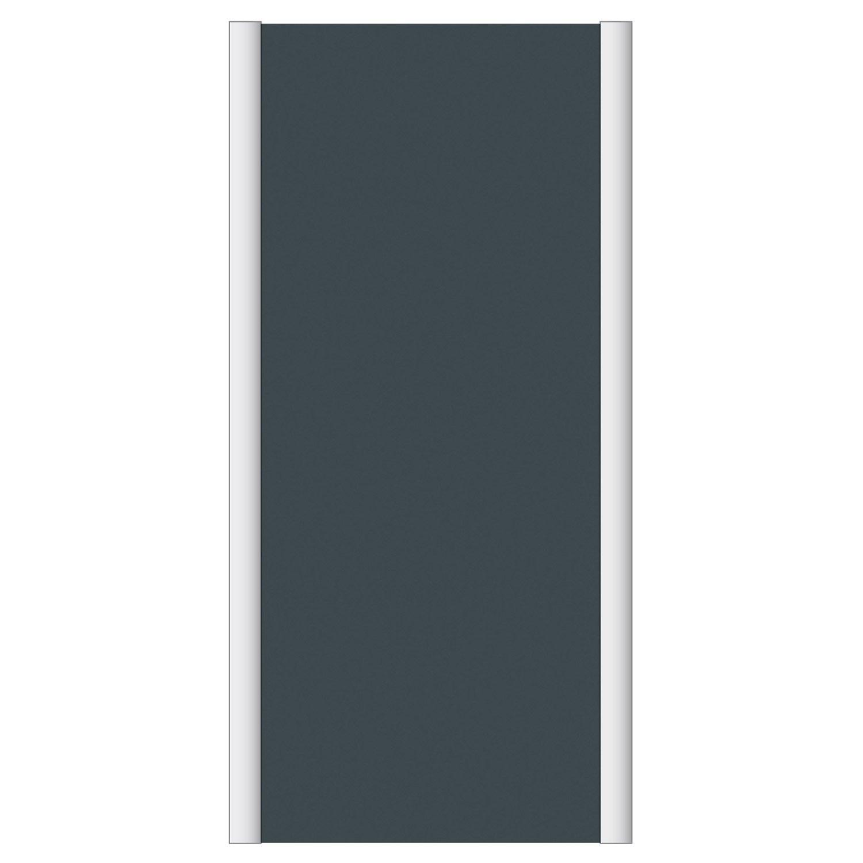 Porte de placard coulissante spaceo l67xh120 cm gris graphite leroy merlin - Porte coulissante spaceo ...
