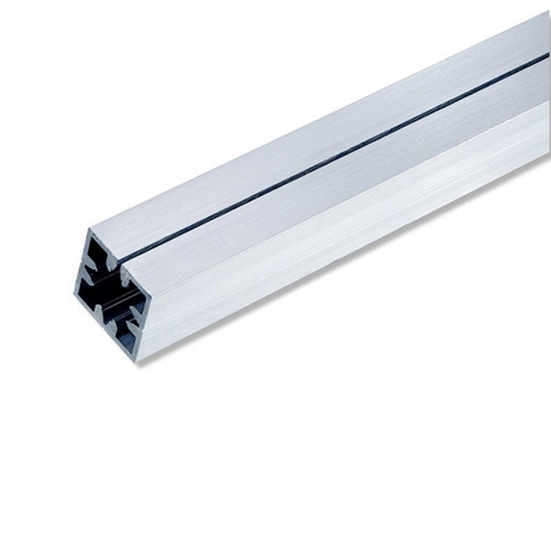 Tube carr aluminium brut l 1 m x l cm x h cm for Tube rectangulaire alu leroy merlin