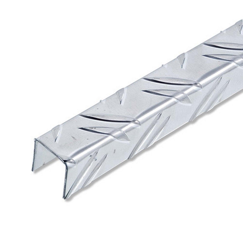 U carr aluminium brut l 2 5 m x l cm x h cm - Baguette angle alu ...