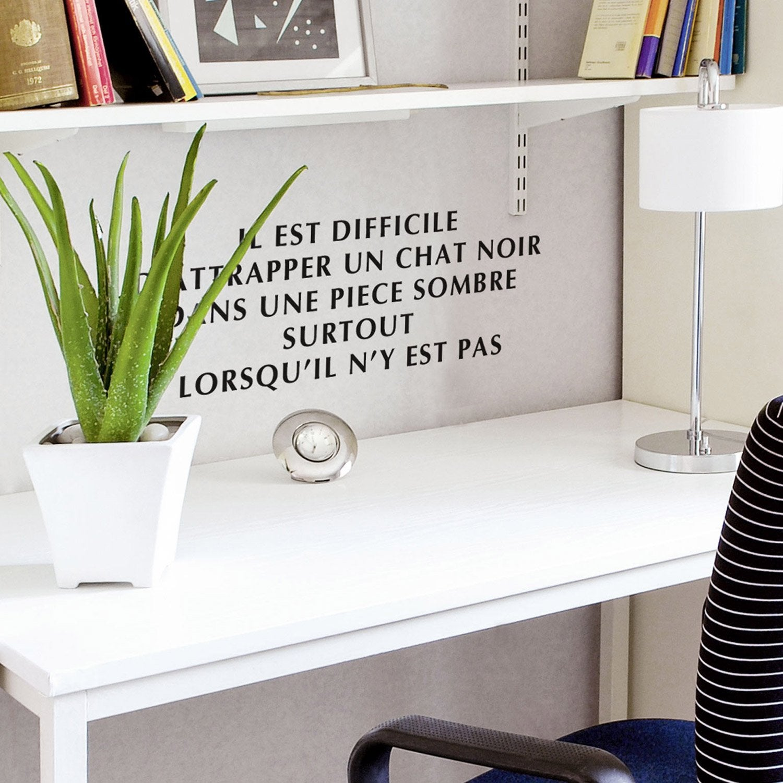 sticker optima noir 50 cm x 70 cm leroy merlin. Black Bedroom Furniture Sets. Home Design Ideas