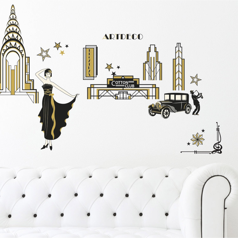 Sticker art d co 50 cm x 70 cm leroy merlin - Stickers leroy merlin deco ...