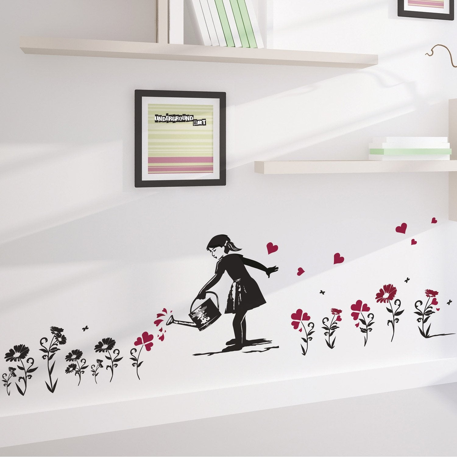 sticker jardinage 50 cm x 70 cm leroy merlin. Black Bedroom Furniture Sets. Home Design Ideas