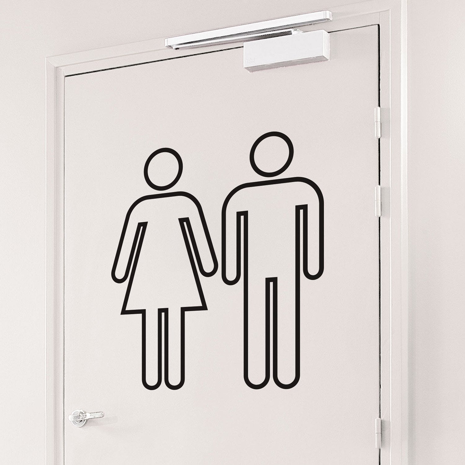 Sticker Picto toilettes, 50 x 70 cm  Leroy Merlin