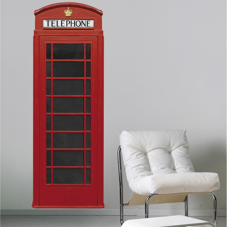 sticker cabine anglaise 60 cm x 170 cm leroy merlin. Black Bedroom Furniture Sets. Home Design Ideas
