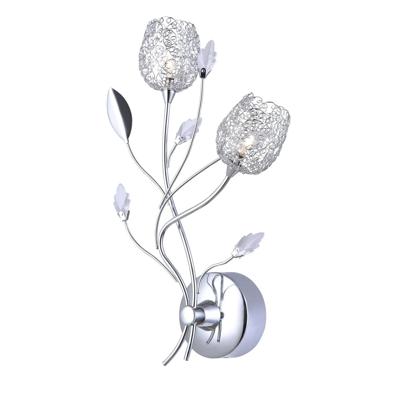 Applique, g4 Adriana, 2 x 20 W, métal chromé, SEYNAVE | Leroy Merlin