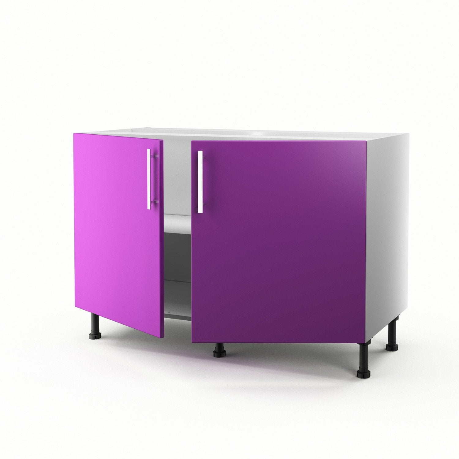 meuble de cuisine sous vier violet 2 portes d lice x x cm leroy merlin. Black Bedroom Furniture Sets. Home Design Ideas