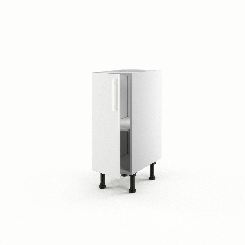 Meuble De Cuisine Bas Blanc 1 Porte D Lice X X P