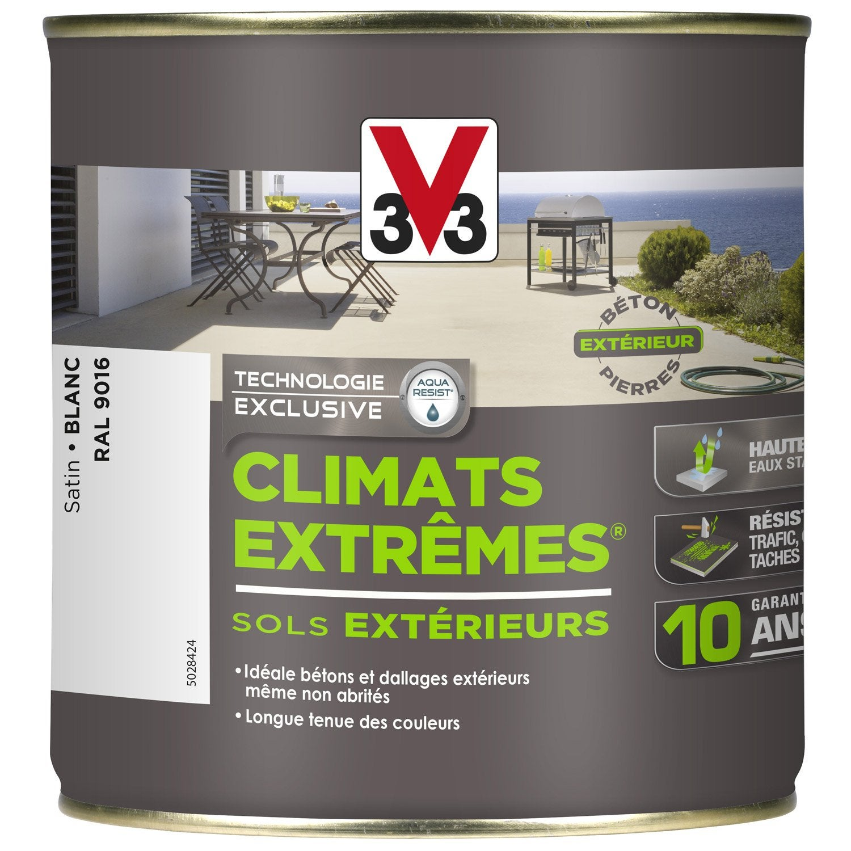 Peinture sol ext rieur climats extr mes v33 blanc 0 5 l leroy merlin - Peinture beton exterieur leroy merlin ...