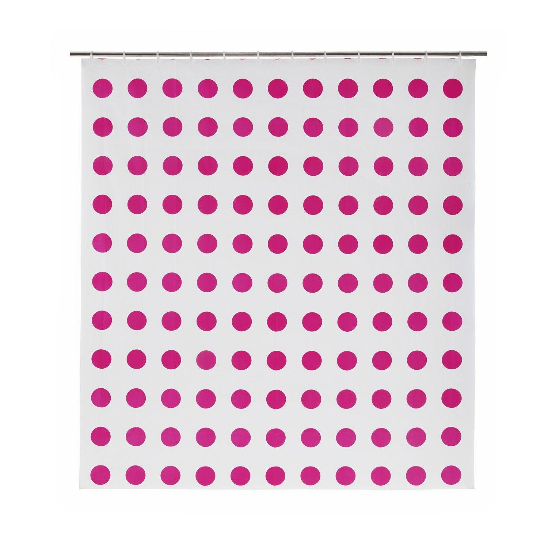Rideau de douche en plastique rose shocking n 3 x h for Rideau en plastique exterieur