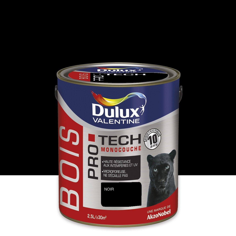 peinture bois ext rieur protech dulux valentine satin noir 2 5l leroy merlin. Black Bedroom Furniture Sets. Home Design Ideas