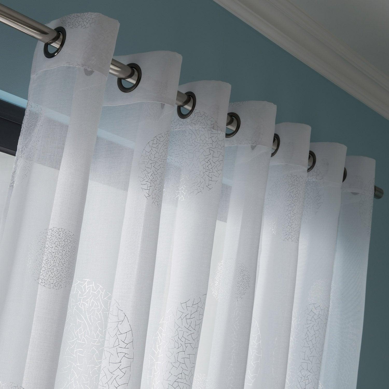 Voilage grande largeur plan te blanc 300 x 240 cm - Miroir salon leroy merlin ...