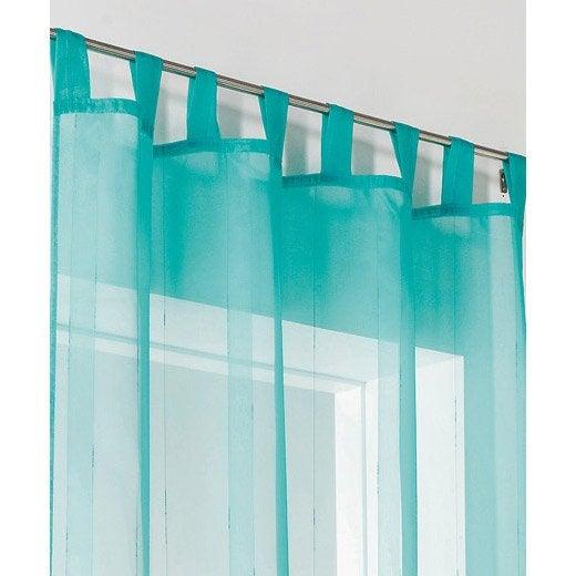 voilage tamisant bahamas bleu turquoise x cm leroy merlin. Black Bedroom Furniture Sets. Home Design Ideas