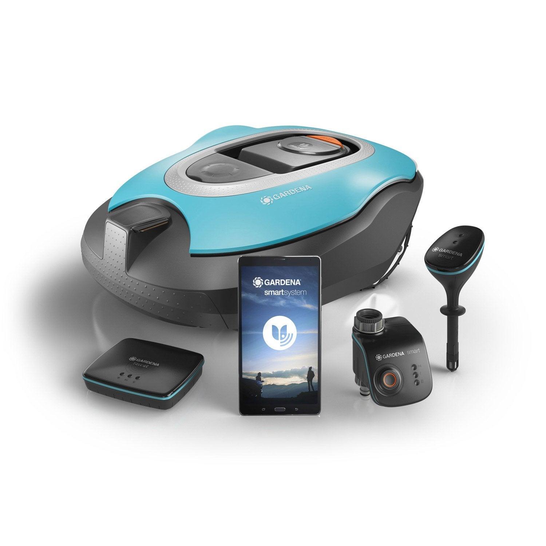 Tondeuse robot connect e gardena kit sileno smart 1000 - Robot tondeuse leroy merlin ...