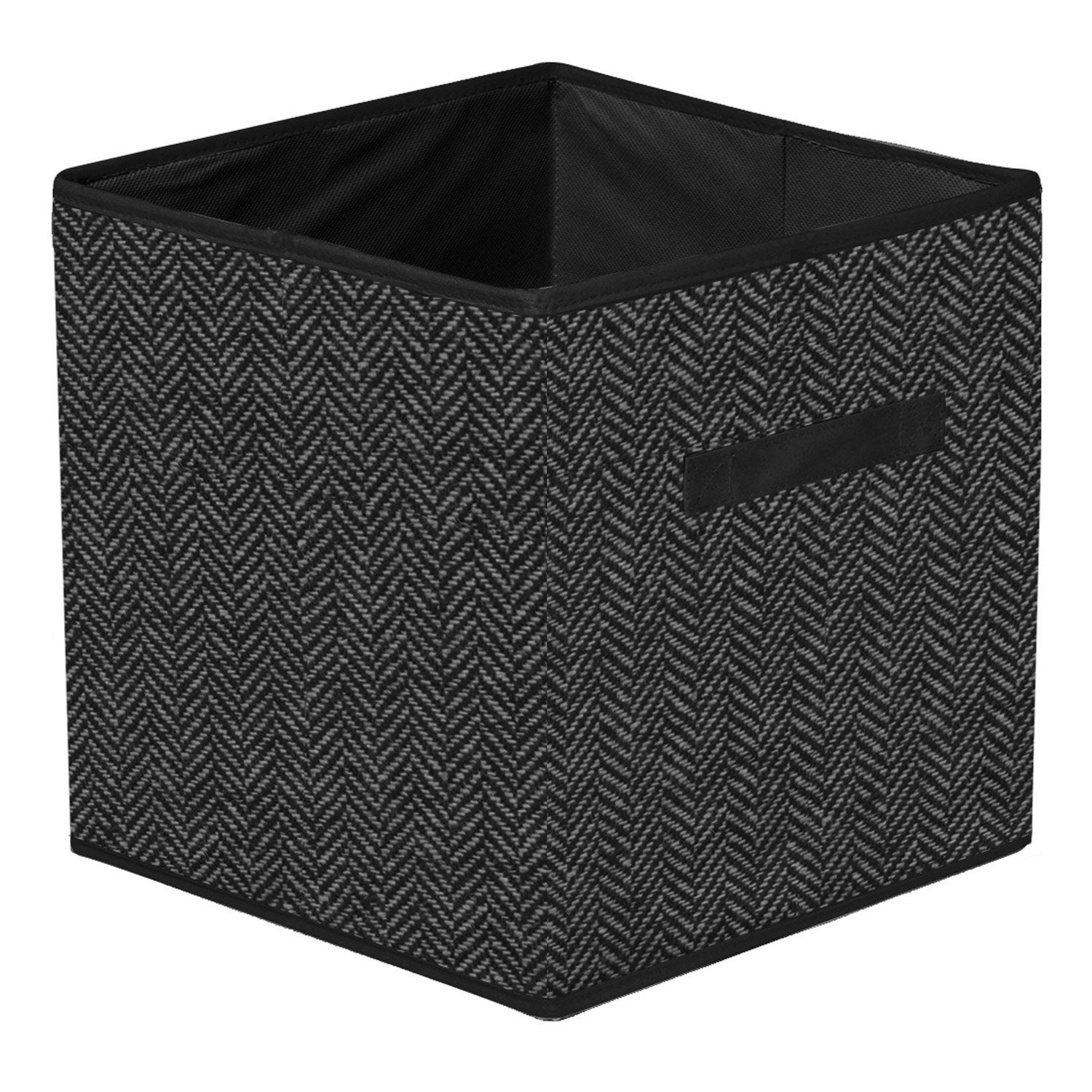 panier de rangement coton multikaz gris l32xh32xp32 cm leroy merlin. Black Bedroom Furniture Sets. Home Design Ideas