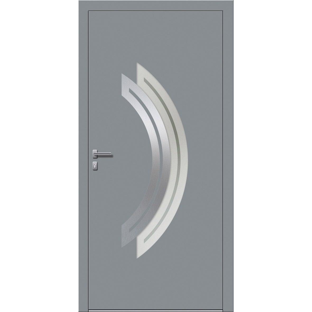 Porte d 39 entr e sur mesure en aluminium maeva excellence leroy merlin - Porte d entree leroy merlin ...