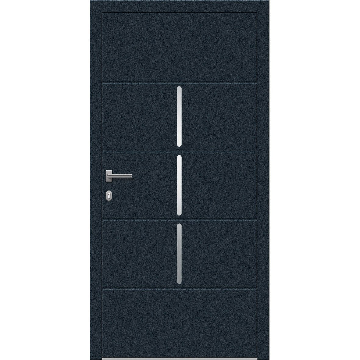 porte d 39 entr e sur mesure en aluminium miami excellence. Black Bedroom Furniture Sets. Home Design Ideas