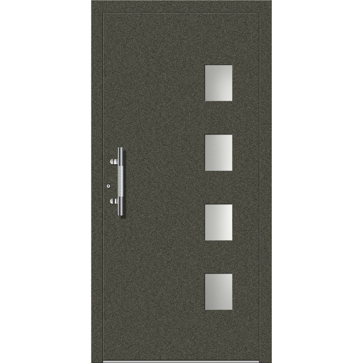 Porte d 39 entr e sur mesure en aluminium faro excellence - Credence leroy merlin sur mesure ...