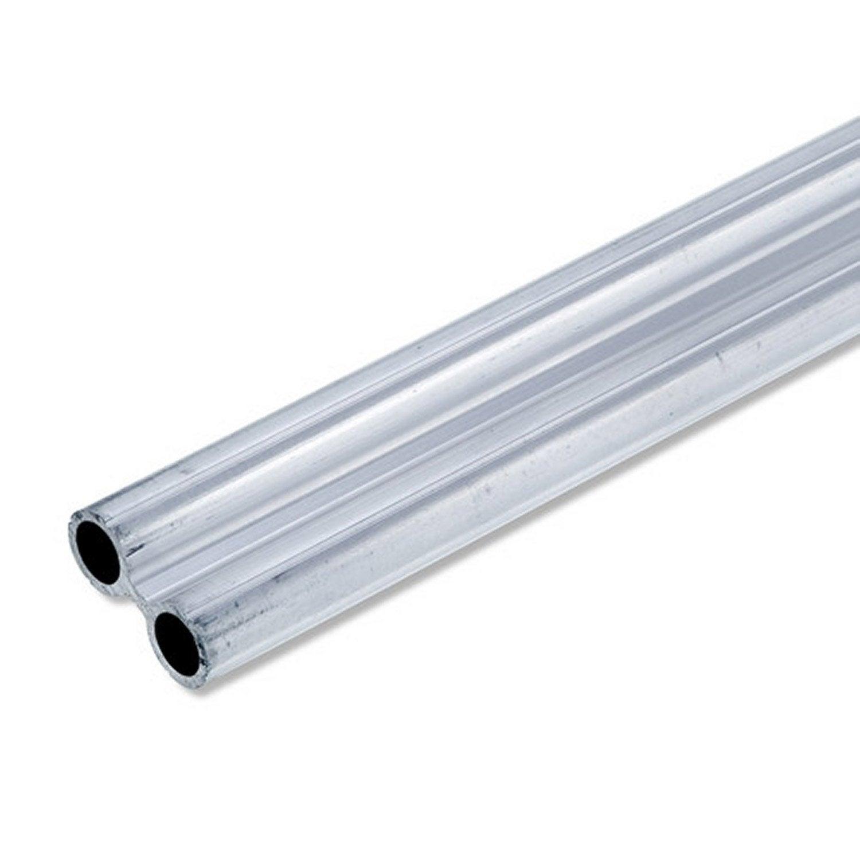 Tube double en aluminium brut long 1m x larg 49 5 x ep 1 for Malette aluminium leroy merlin
