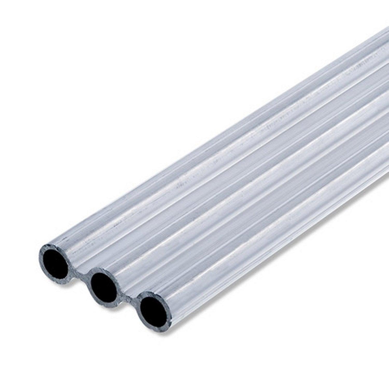 Tube triple en aluminium brut long 1m x larg 43 5 x ep 1 5 mm leroy merlin - Prieel aluminium leroy merlin ...
