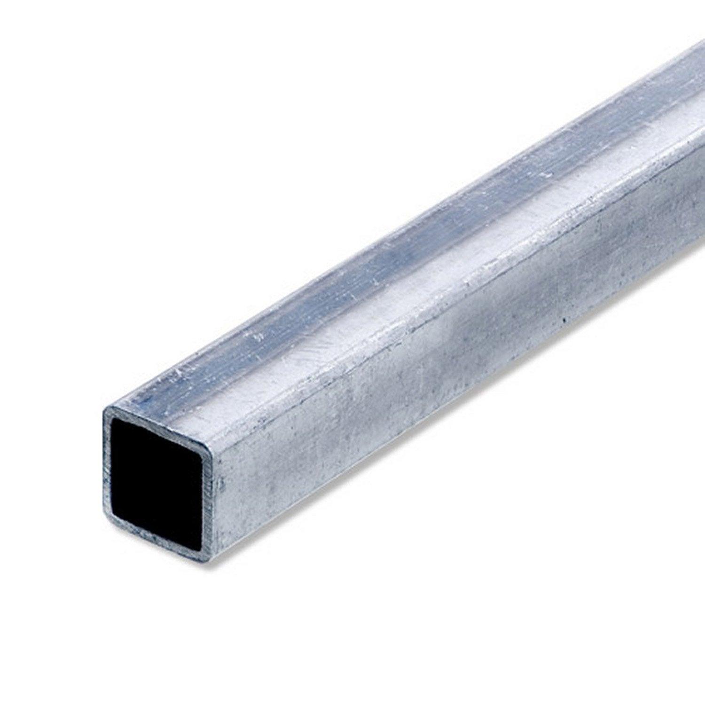 Tube carr acier inoxydable brut l 1 m x l 2 cm x h 2 cm leroy merlin - Tube carre acier brico depot ...