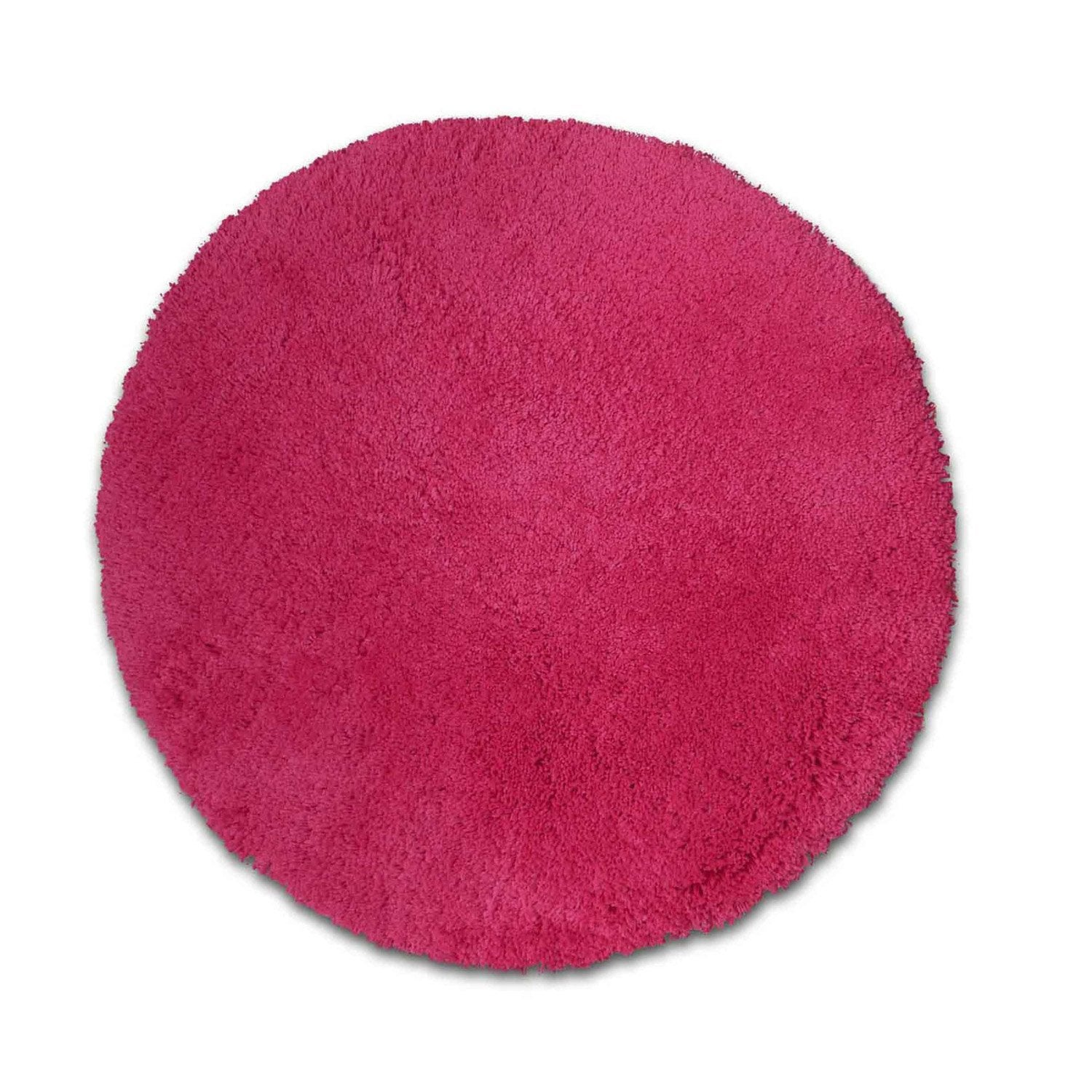 Tapis rose shaggy agathe mm leroy merlin - Tapis shaggy rose clair ...