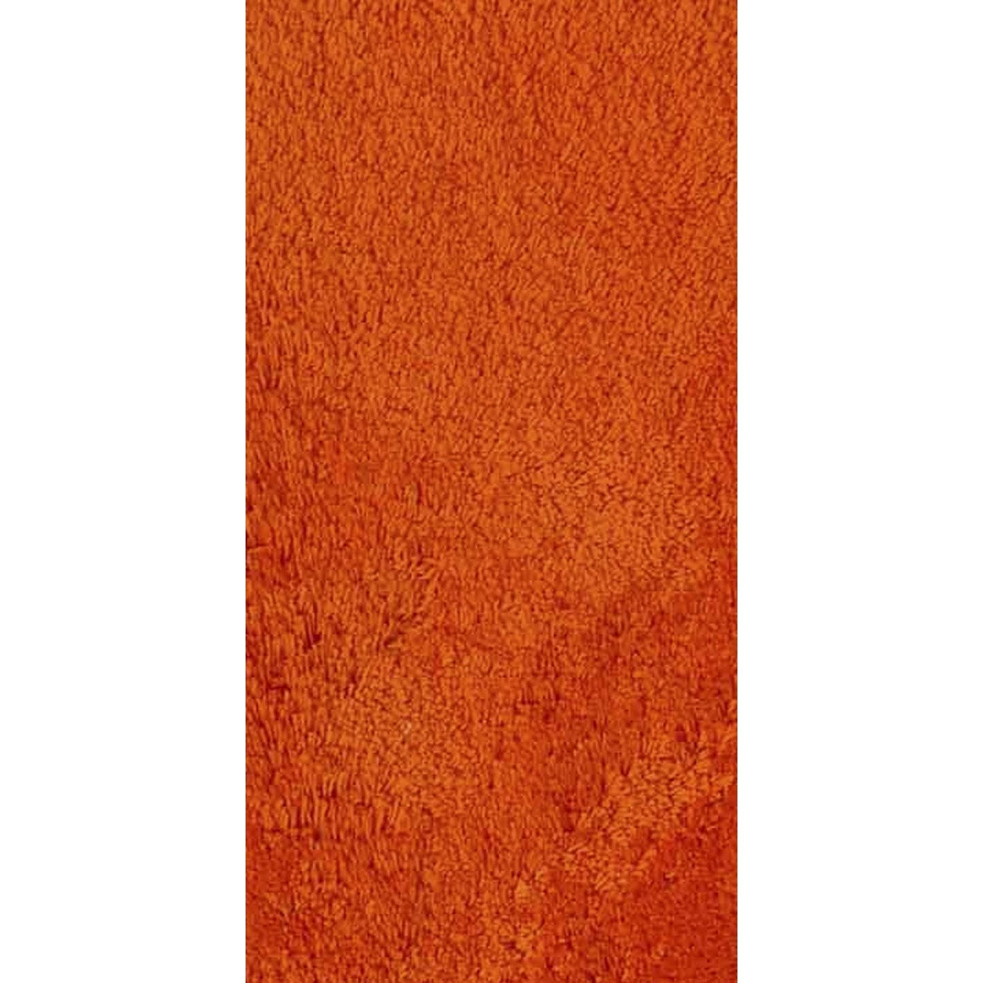 Tapis Orange Shaggy Agathe X Cm Leroy Merlin