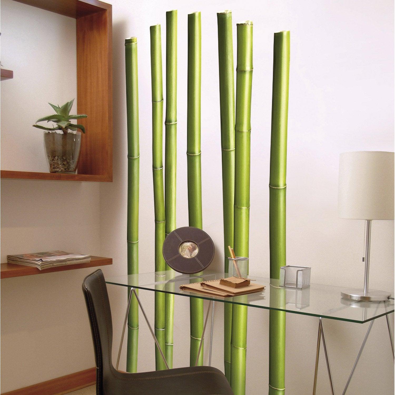 Sticker bambous 58 cm x 168 cm leroy merlin - Stickers salle de bain pas cher ...