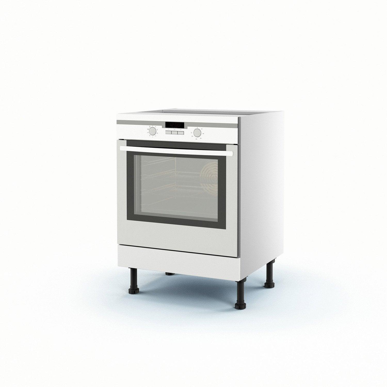 Meuble de cuisine bas blanc four d lice h70xl60xp56 cm leroy merlin - Meuble four leroy merlin ...