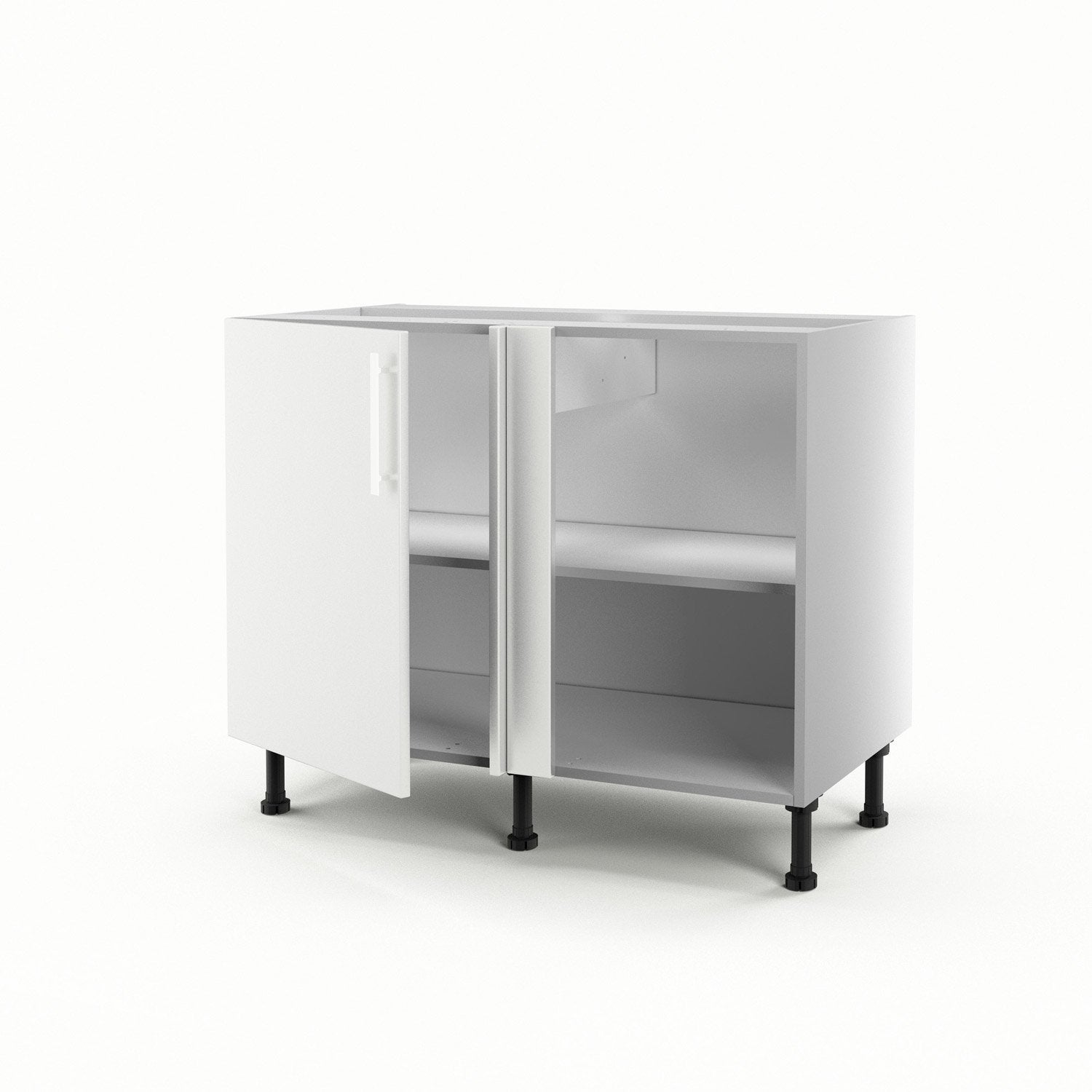 meuble de cuisine bas d 39 angle blanc 1 porte d lice x x cm leroy merlin. Black Bedroom Furniture Sets. Home Design Ideas