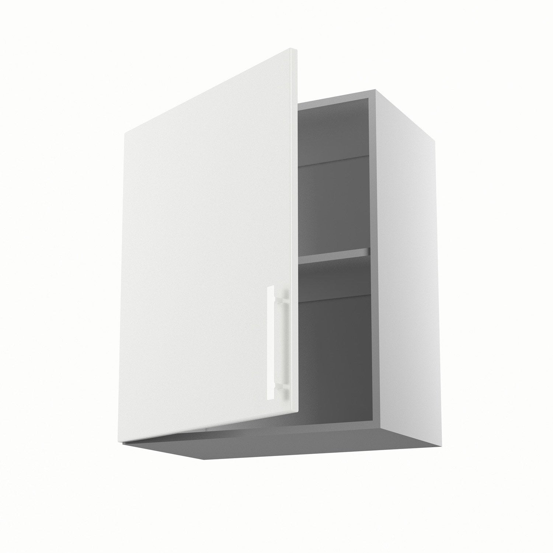 Meuble de cuisine haut blanc 1 porte d lice x x for Ikea porte 60 x 70