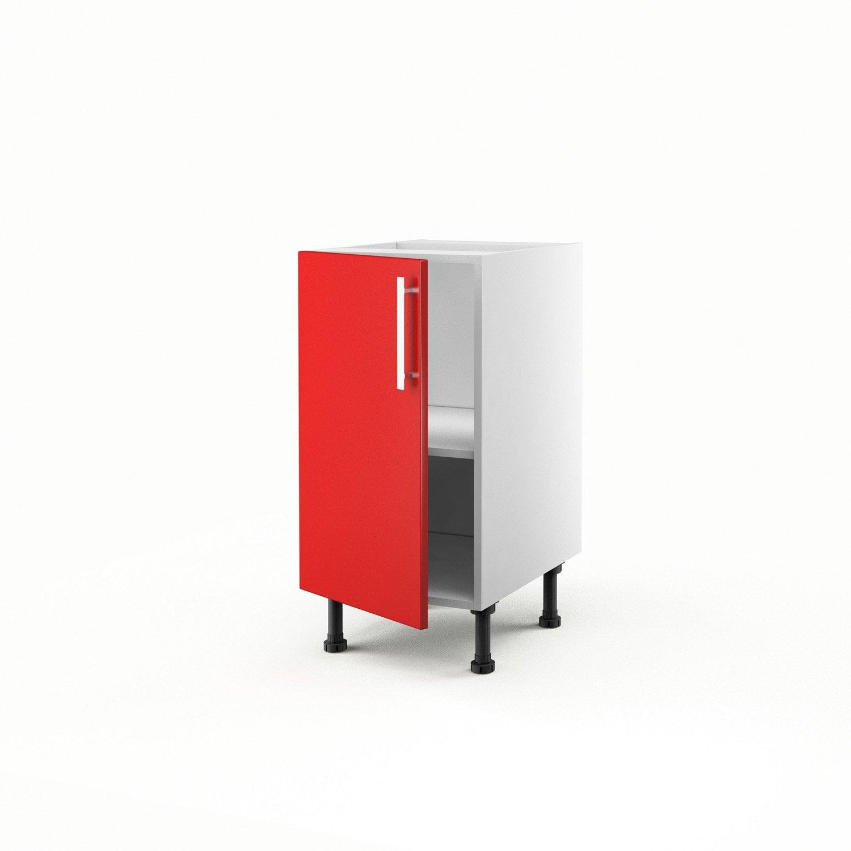 Meuble De Cuisine Bas Rouge 1 Porte D Lice H70xl40xp56 Cm