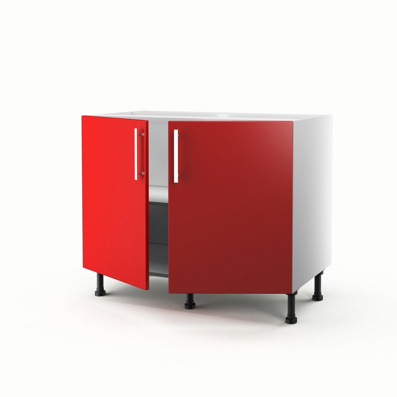 Meuble de cuisine rouge for Cuisine rouge