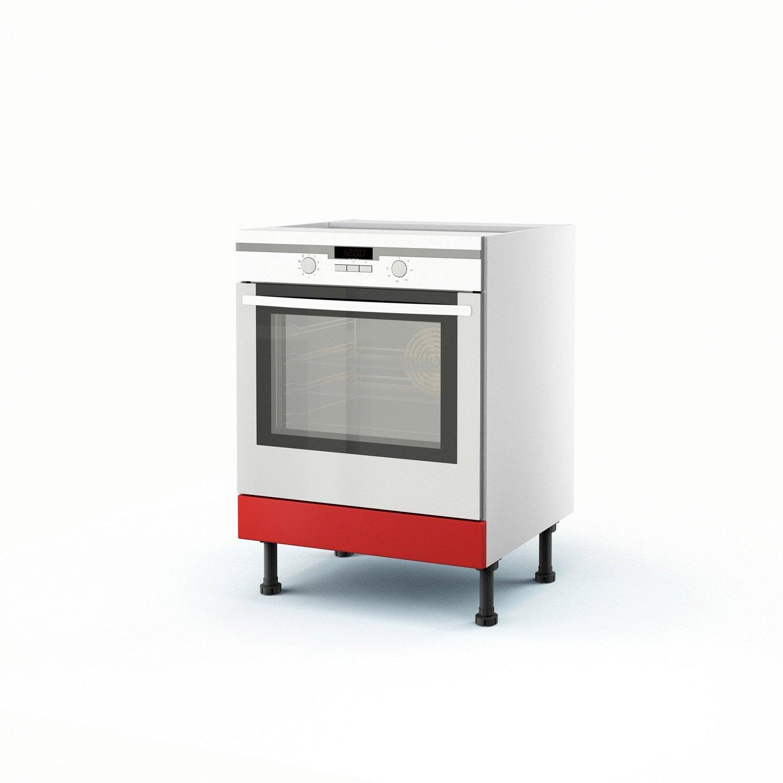 meuble de cuisine bas rouge four d lice x x cm leroy merlin. Black Bedroom Furniture Sets. Home Design Ideas