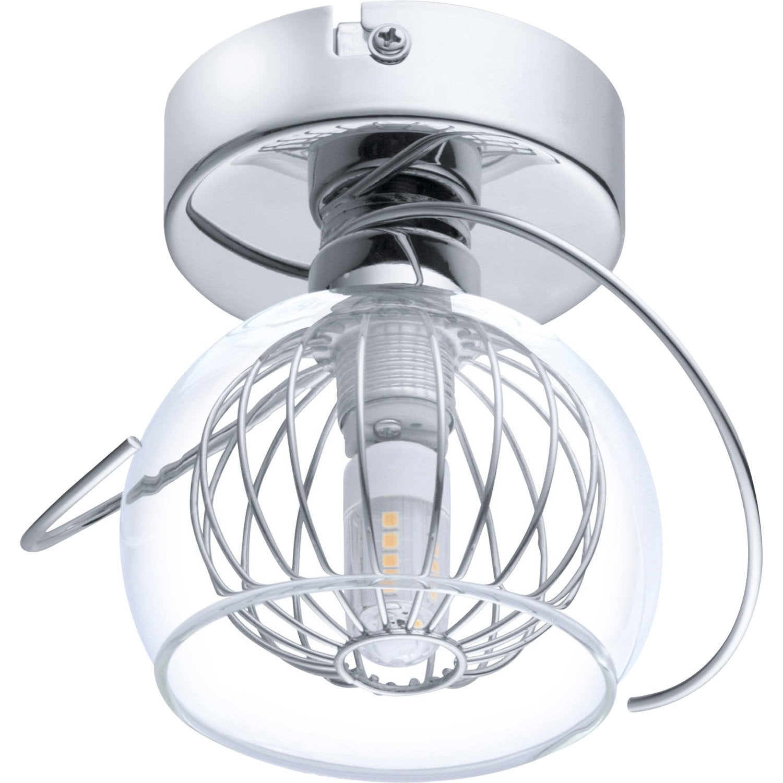 spot pat re led 1 x g9 chrome lalys eglo leroy merlin. Black Bedroom Furniture Sets. Home Design Ideas