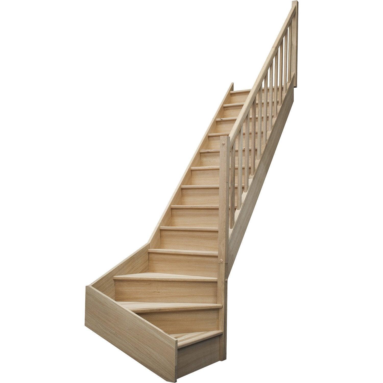 escalier quart tournant bas droit deva leroy merlin