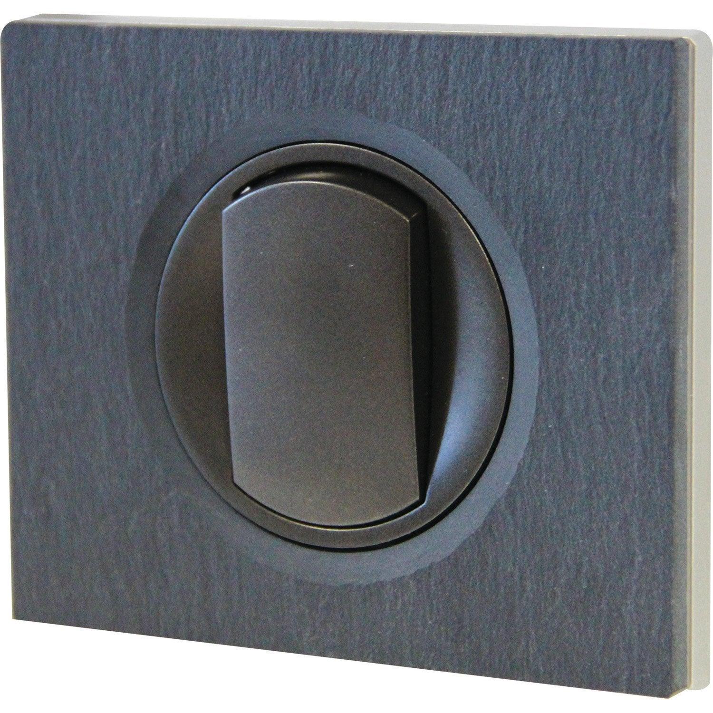 interrupteur va et vient c liane legrand ardoise leroy merlin. Black Bedroom Furniture Sets. Home Design Ideas