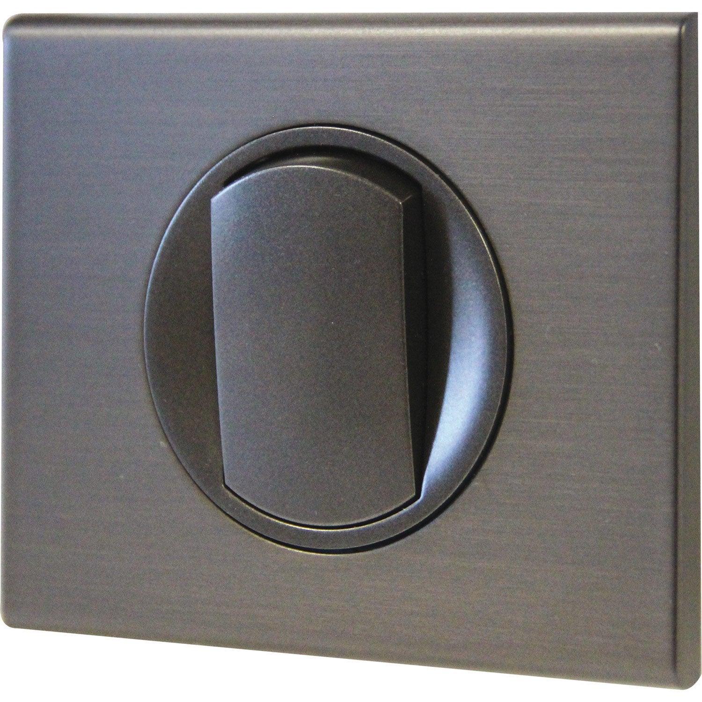 interrupteur va et vient c liane black nickel legrand. Black Bedroom Furniture Sets. Home Design Ideas