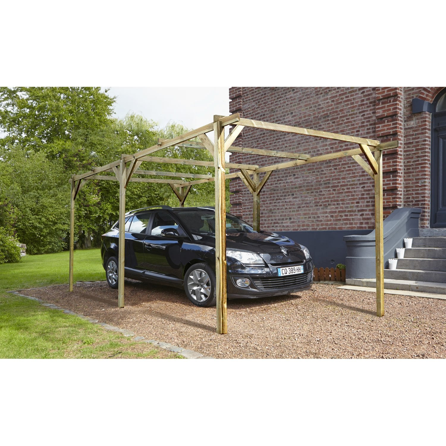 carport bois paco 1 voiture 13 5 m leroy merlin. Black Bedroom Furniture Sets. Home Design Ideas