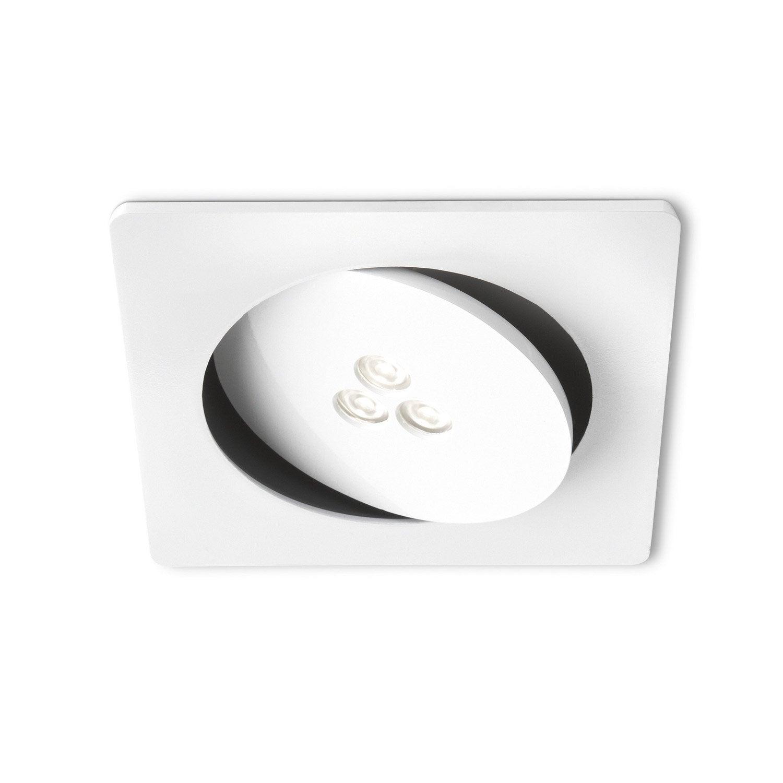 kit 1 spot orientable encastrer ledino 7 5w blanc. Black Bedroom Furniture Sets. Home Design Ideas