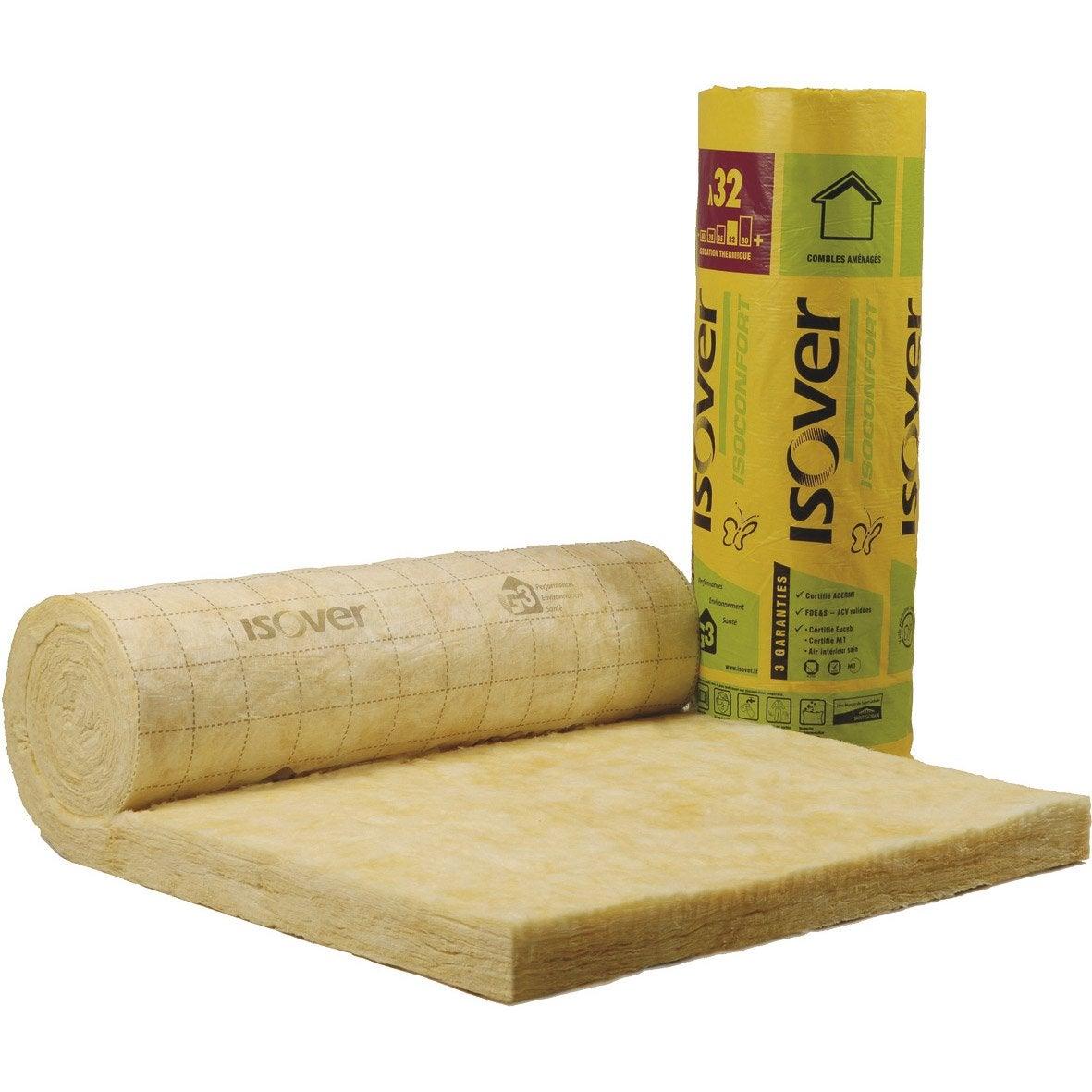 laine de verre nu 6 x 1 2 m ep 60 mm lambda r isoconfort leroy merlin. Black Bedroom Furniture Sets. Home Design Ideas