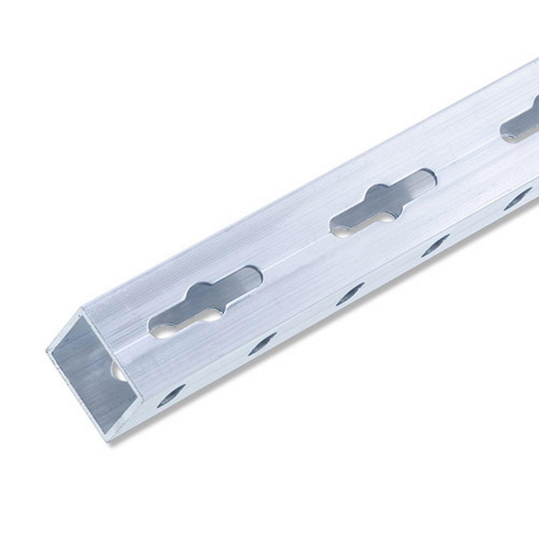 tube carr aluminium brut l 2 5 m x l cm x h cm. Black Bedroom Furniture Sets. Home Design Ideas