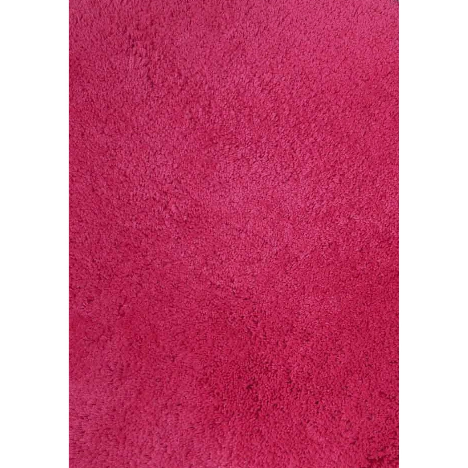 tapis rose shaggy agathe x cm leroy merlin. Black Bedroom Furniture Sets. Home Design Ideas
