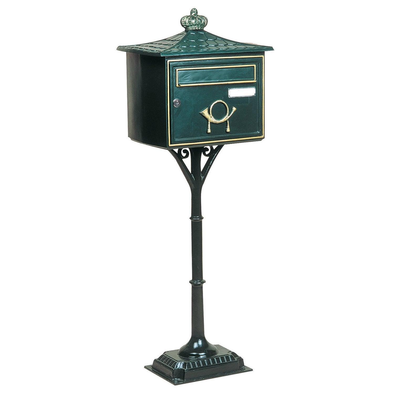 bo te aux lettres 1 porte decayeux florence fonte vert. Black Bedroom Furniture Sets. Home Design Ideas