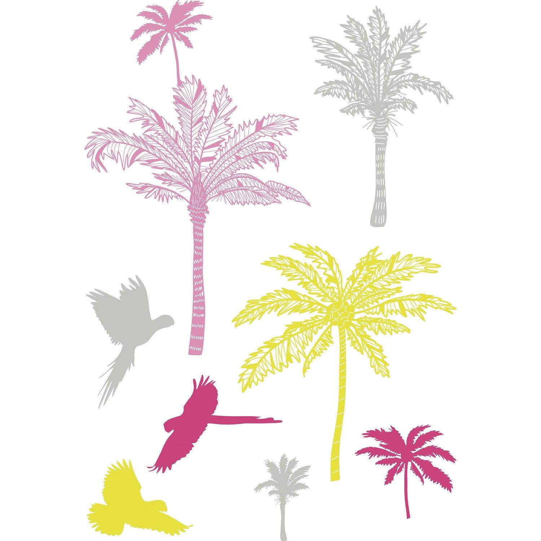 sticker palmiers 47 cm x 67 cm leroy merlin. Black Bedroom Furniture Sets. Home Design Ideas