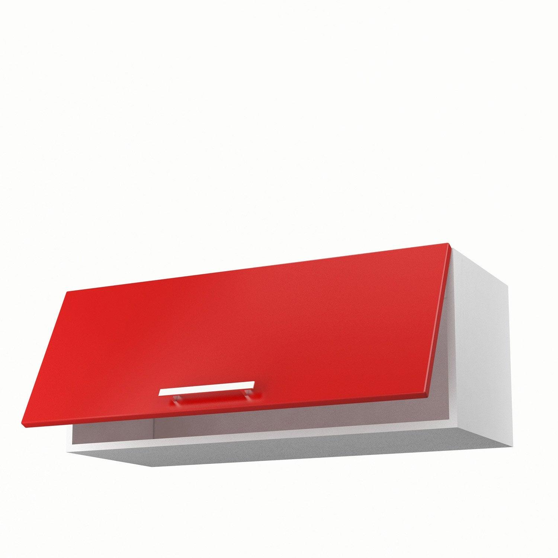 Meuble de cuisine bas d 39 angle rouge 1 porte griotte x cuisine leroy merl - Leroy merlin porte cuisine ...
