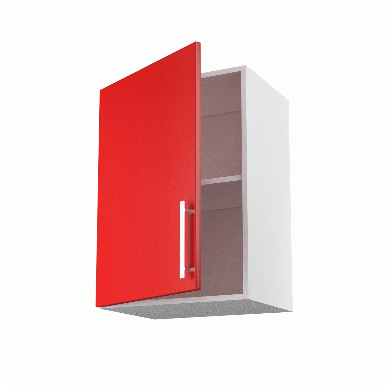 meuble de cuisine haut rouge 1 porte d lice x x. Black Bedroom Furniture Sets. Home Design Ideas