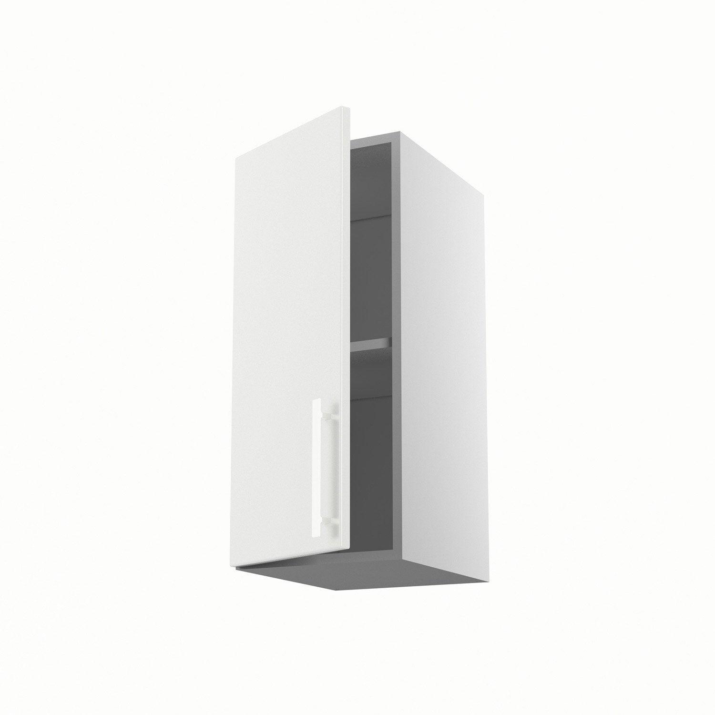 Meuble de cuisine haut blanc 1 porte d lice x x - Meuble cuisine 60 cm largeur ...
