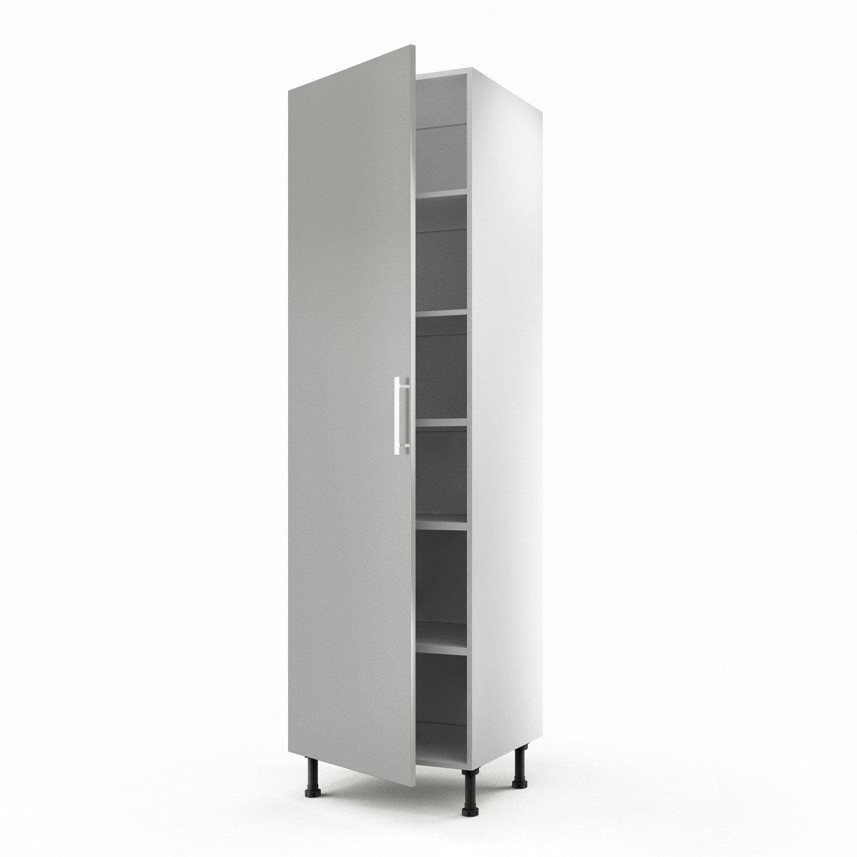 Meuble de cuisine colonne gris 1 porte d lice x for Meuble 60 cm de large