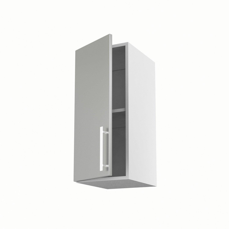 Meuble de cuisine haut gris 1 porte d lice h70xl30xp35 cm - Leroy merlin porte cuisine ...